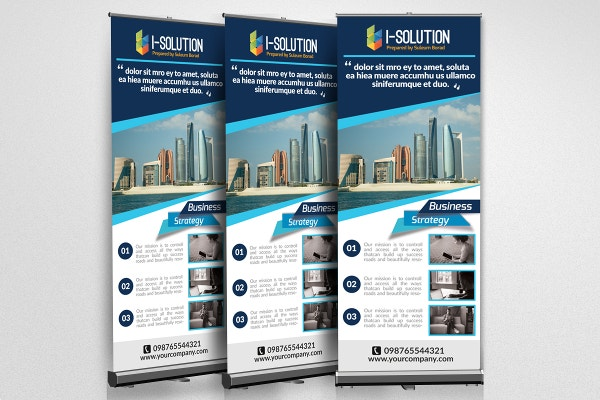 marketing business roll up banners template