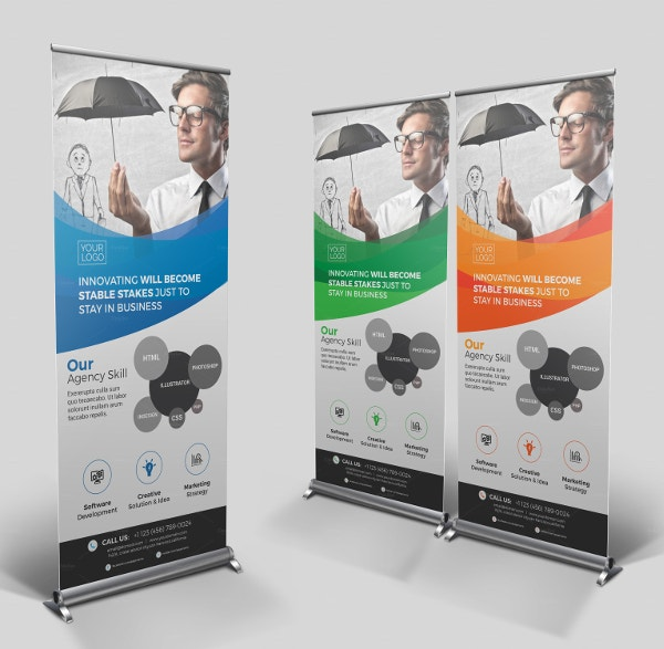 Abstract Roll Up Banner Template