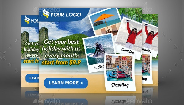 advertising travel banner template