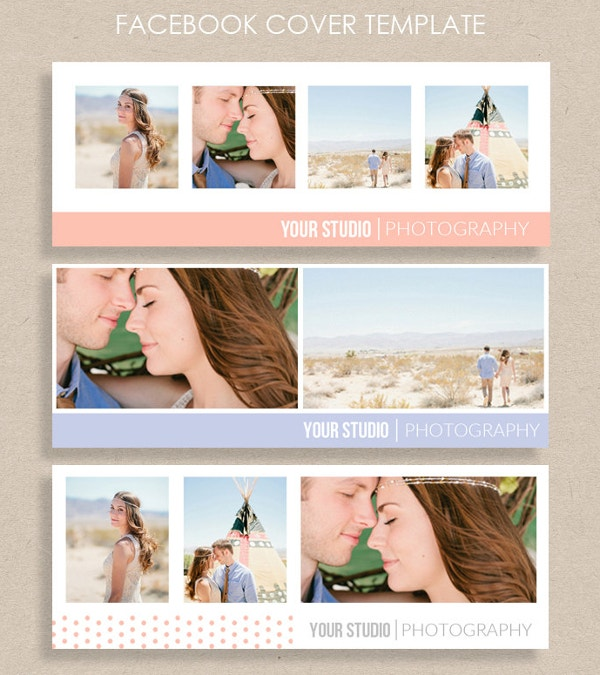 engagement couple facebook banner template