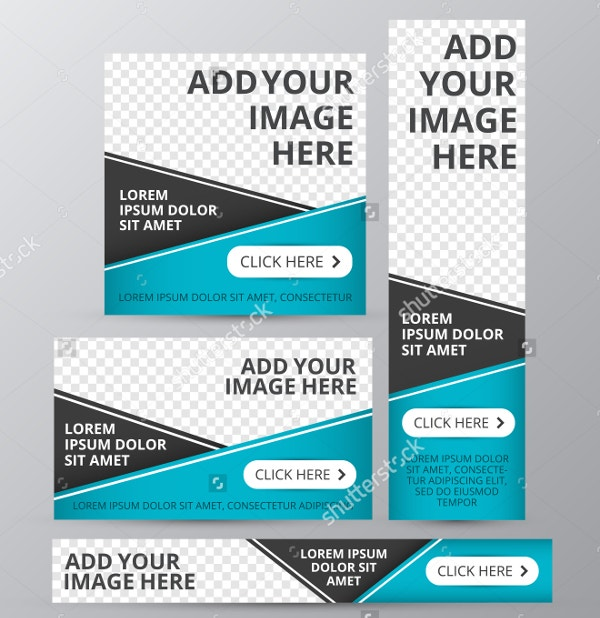 vector web banner template
