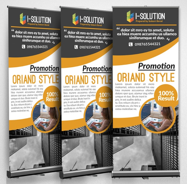 Global Business Roll Up Banners Template