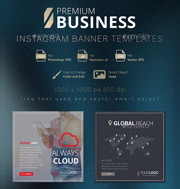Business Instagram Banner Template