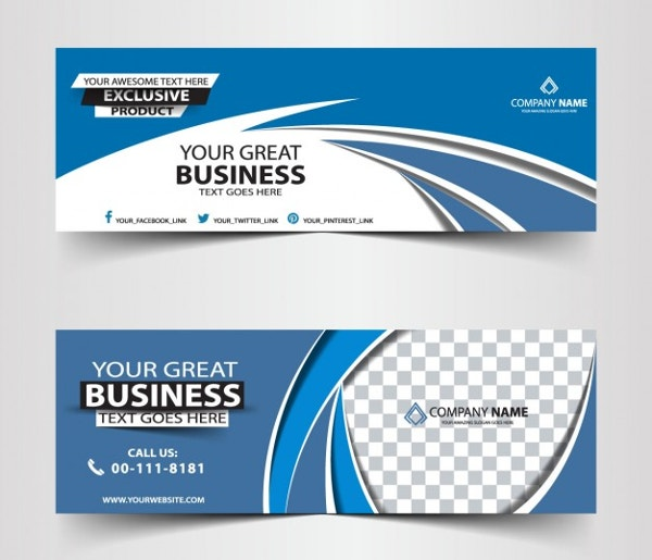 21 banner templates free psd ai vector eps format download blue abstract business header banner template wajeb Image collections