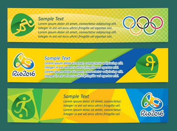 Vector Brasil Olympic Banner Template