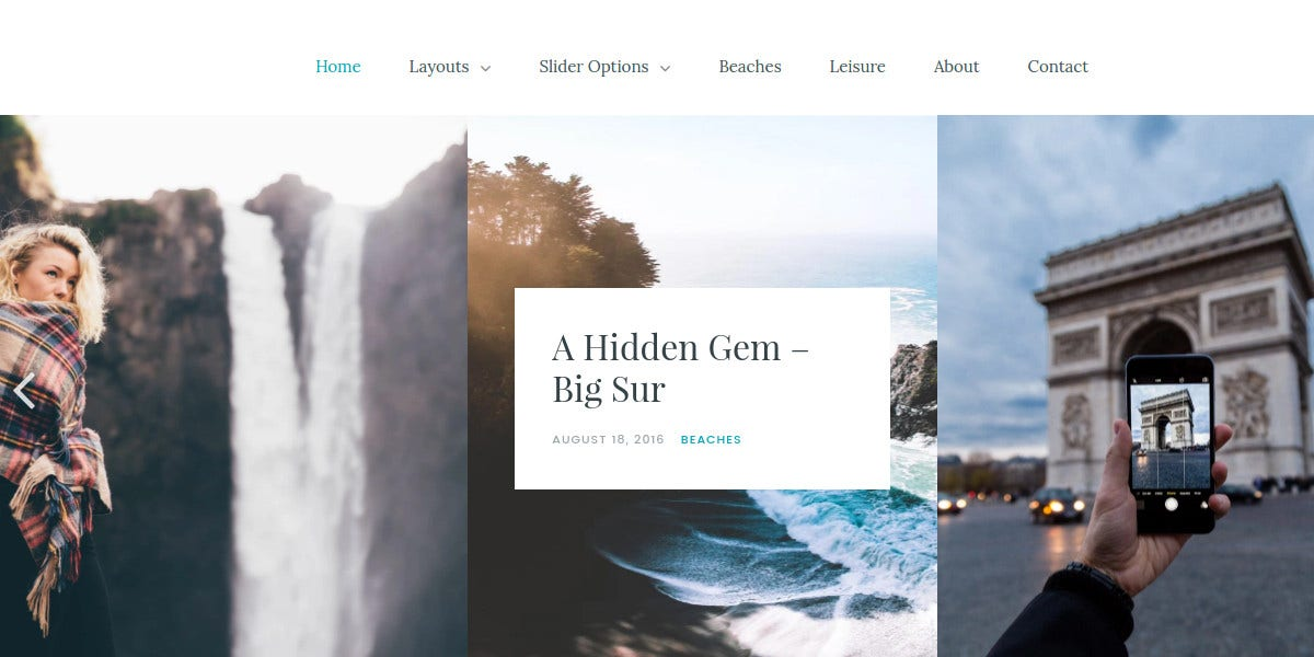 Elegant Photography, Typography WP Blog theme $49