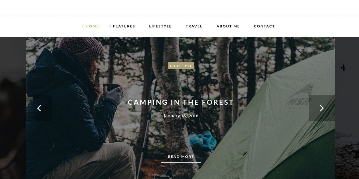 Personal WordPress Theme for Bloggers $44