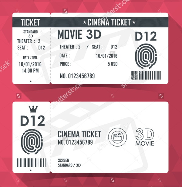 Ticket Template  Free Psd Ai Vector Eps Format Download