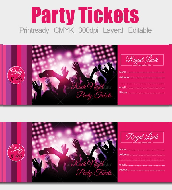 14+ Ticket Template - Free Psd, Ai, Vector Eps Format Download
