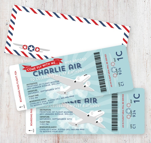 boarding pass ticket template