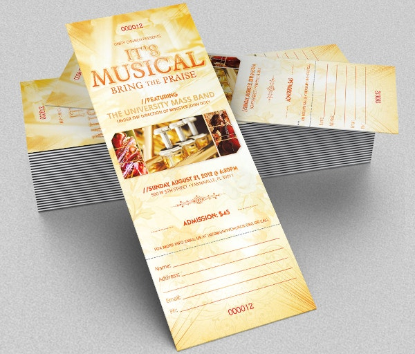 Musical Ticket Template