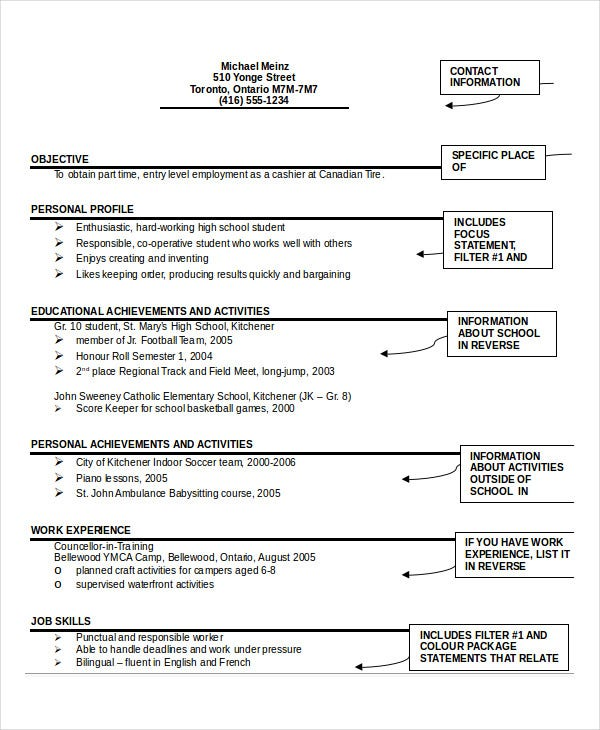 student resume format - Resume Format Pdf Or Word Download