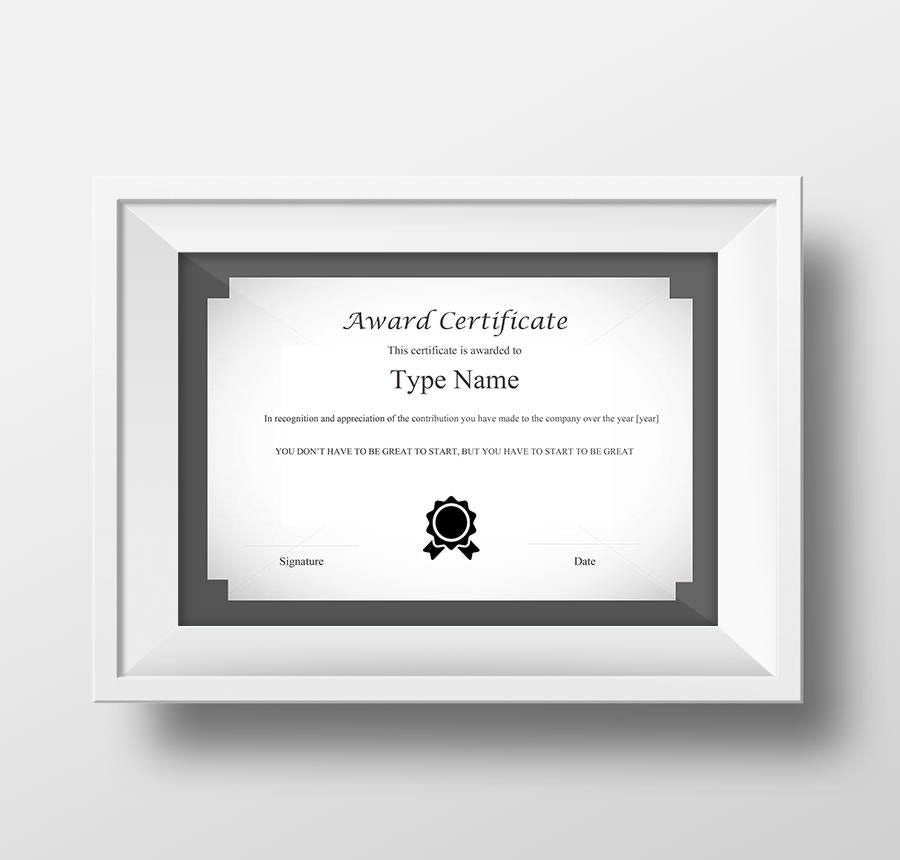 17 free certificate templates participation completion award certificate template this document can be customized for the monthly quarterly or annual rewards and recognition program and handed over to the top yelopaper Image collections