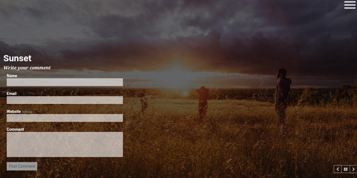 Minimalist Photographer WordPress Website Theme $44