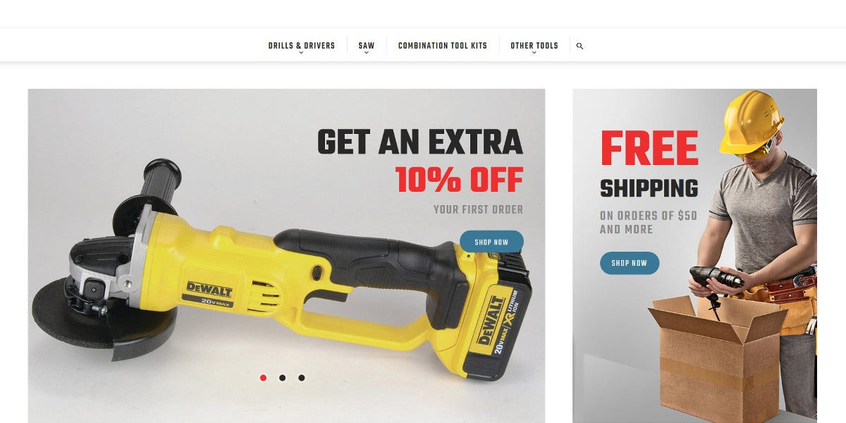 electrical tools store magento website theme 179