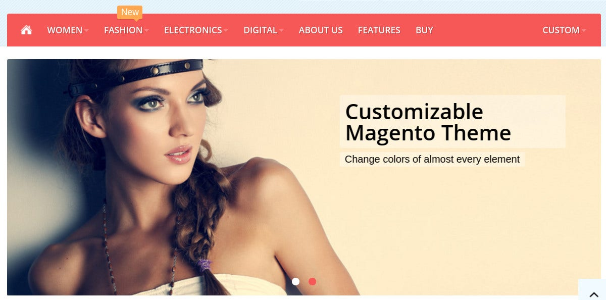 responsive magento theme for cllothes furniture 97