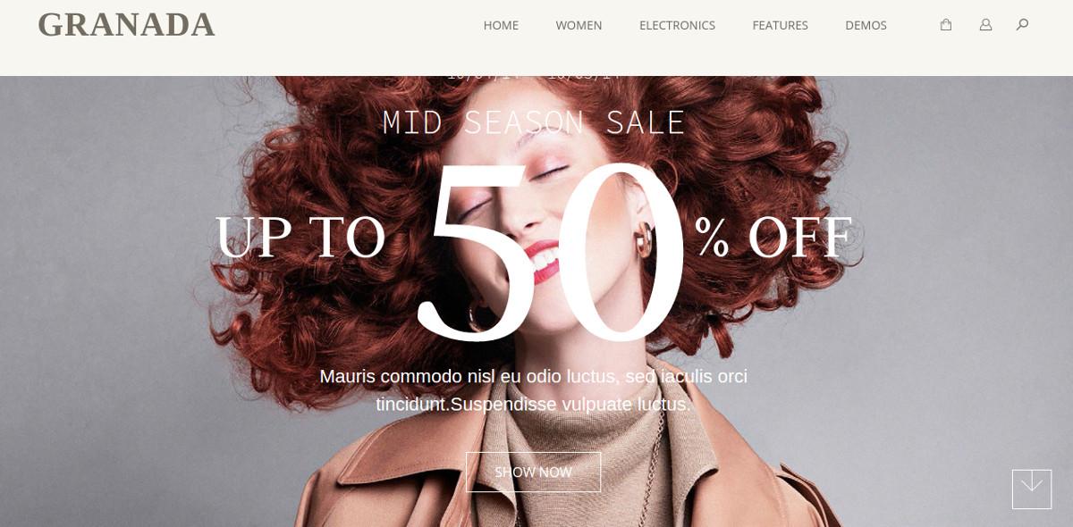 Responsive eCommerce Magento Theme $89