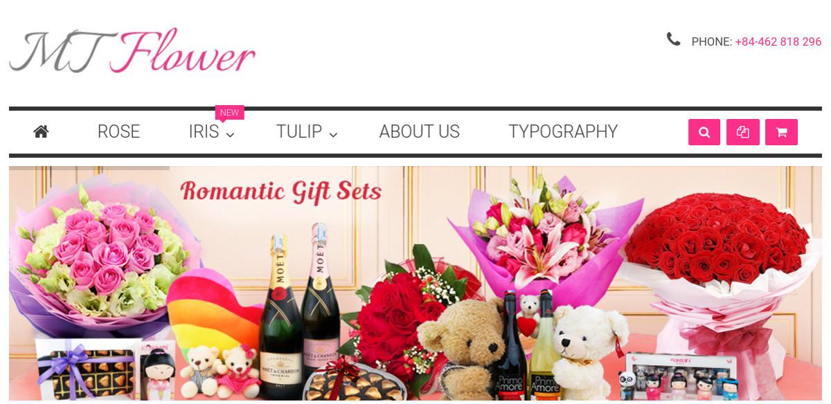 Beautiful Flowers Magento Theme $69