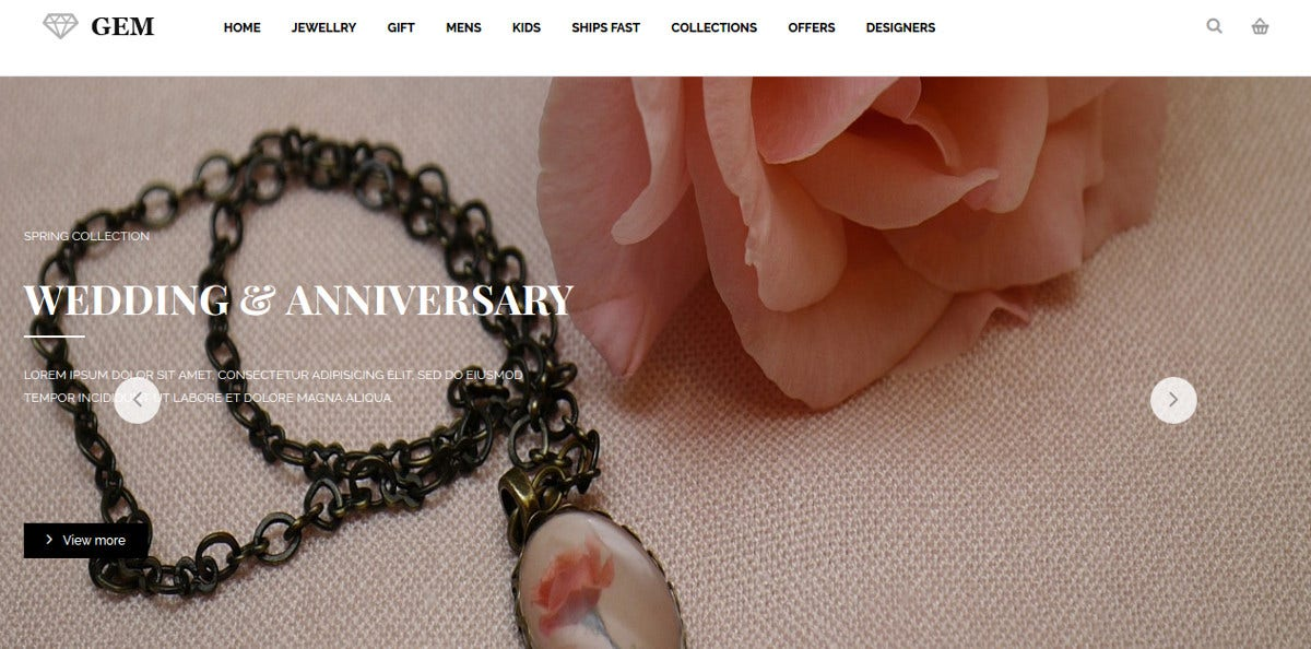 Jewelry Online Shop Magento Theme
