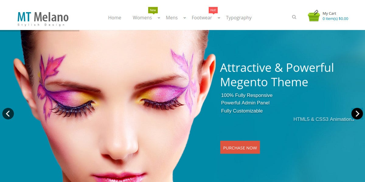 Fashion Clothes Responsive Magento Theme for Womens $69