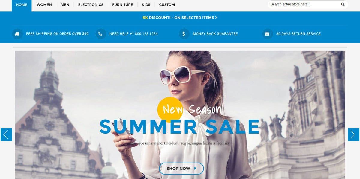 Multipurpose Responsive Magento Theme for Fashion Clothes $82