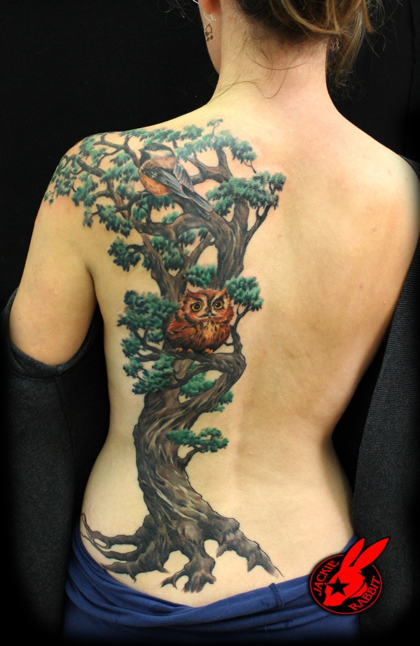 3D Tree Tattoo