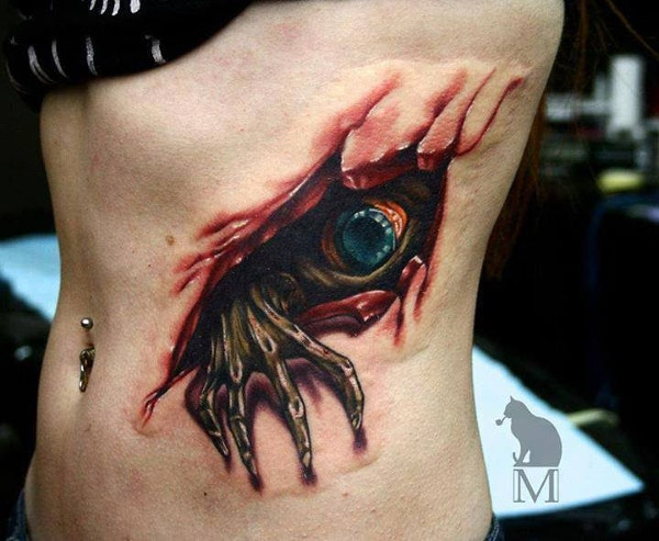 3D Halloween Tattoo