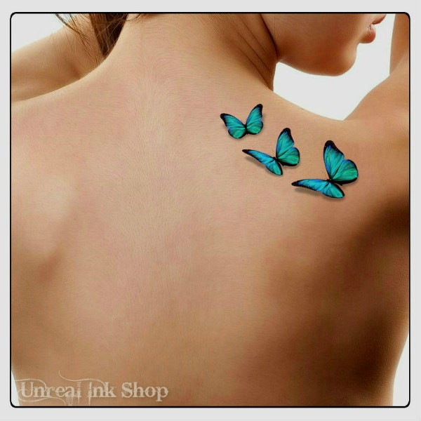 3D Butterflies Fake Tattoo