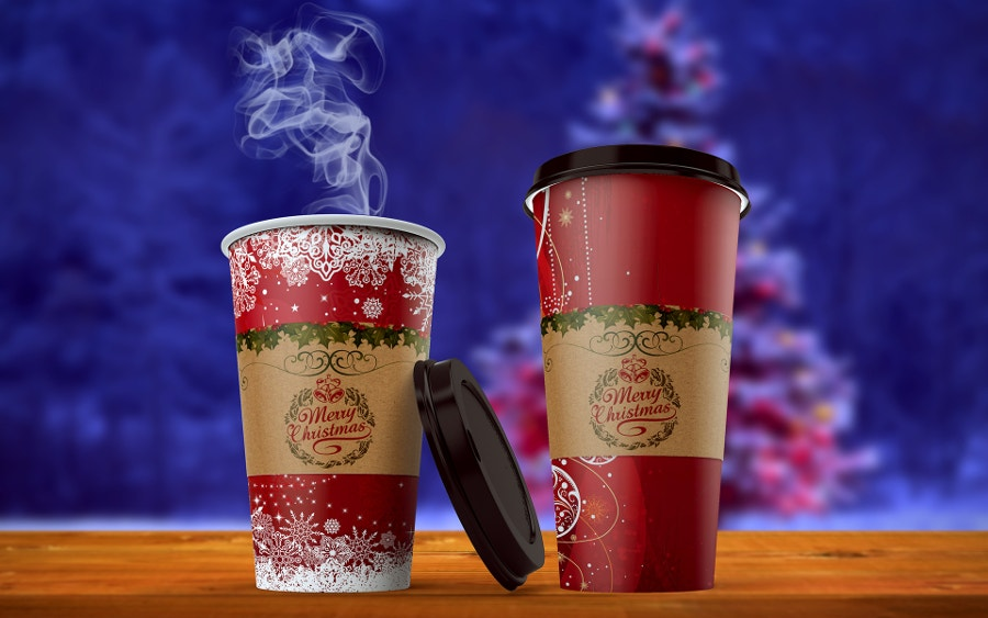 beautiful coffee cup mockup