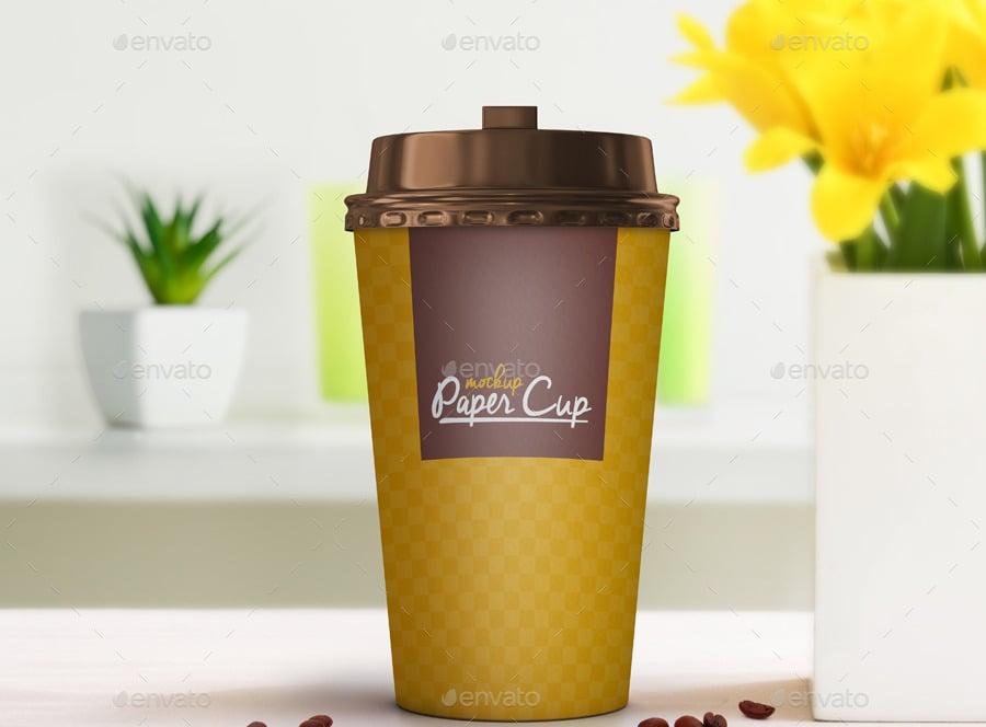 coffeemockup with flowers