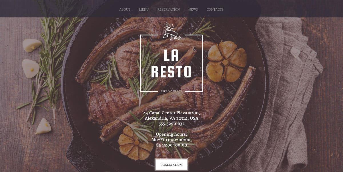premium cafe restaurant responsive website template 75
