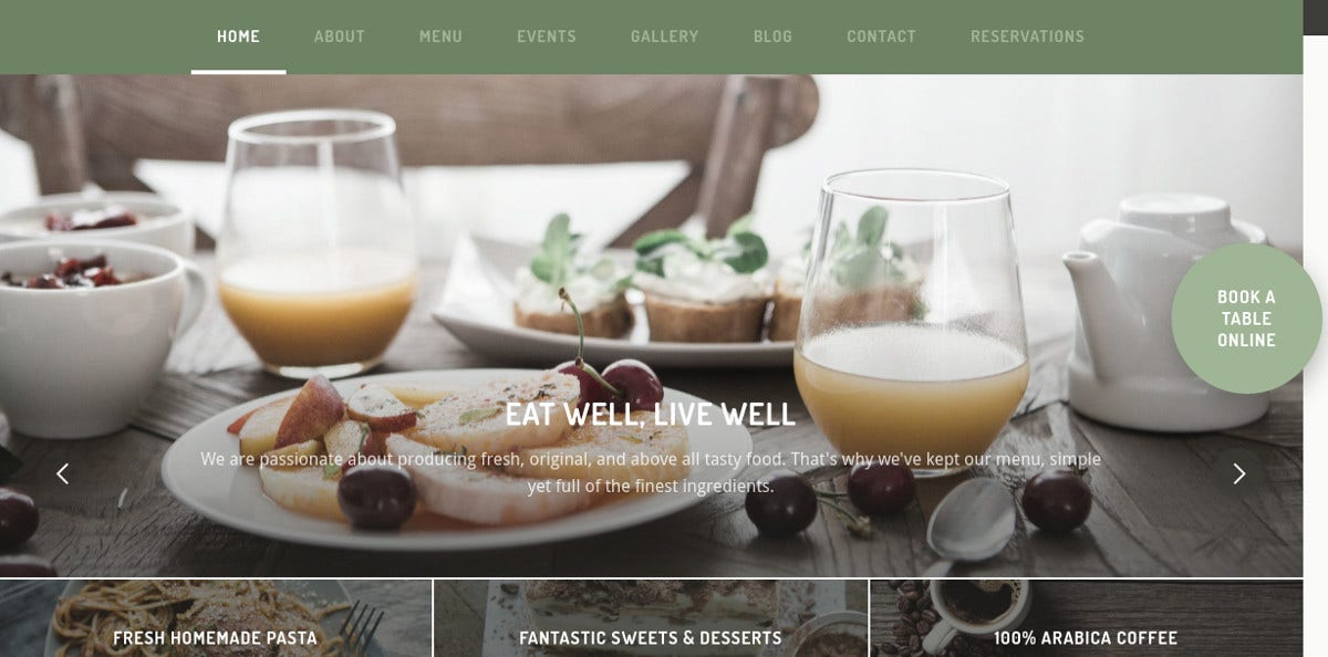 Restaurant & Pub WordPress Website Theme $49