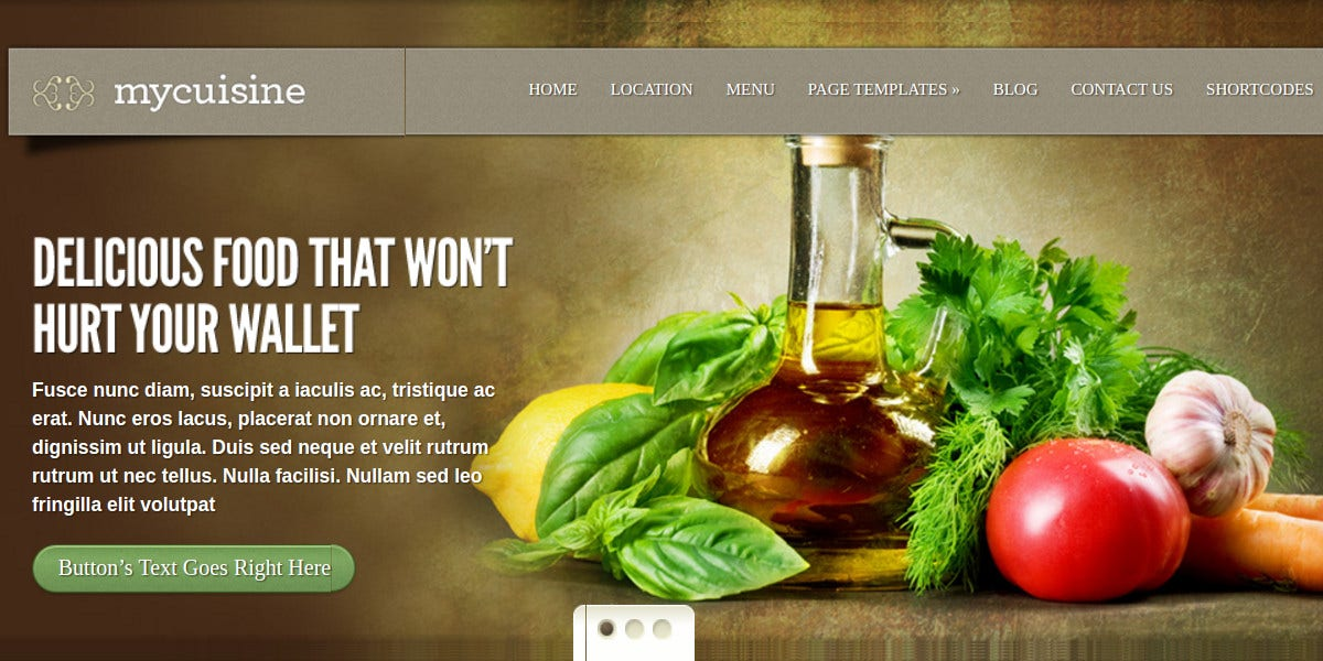 Restaurant & Delicious Food Cuisine WordPress Website Theme