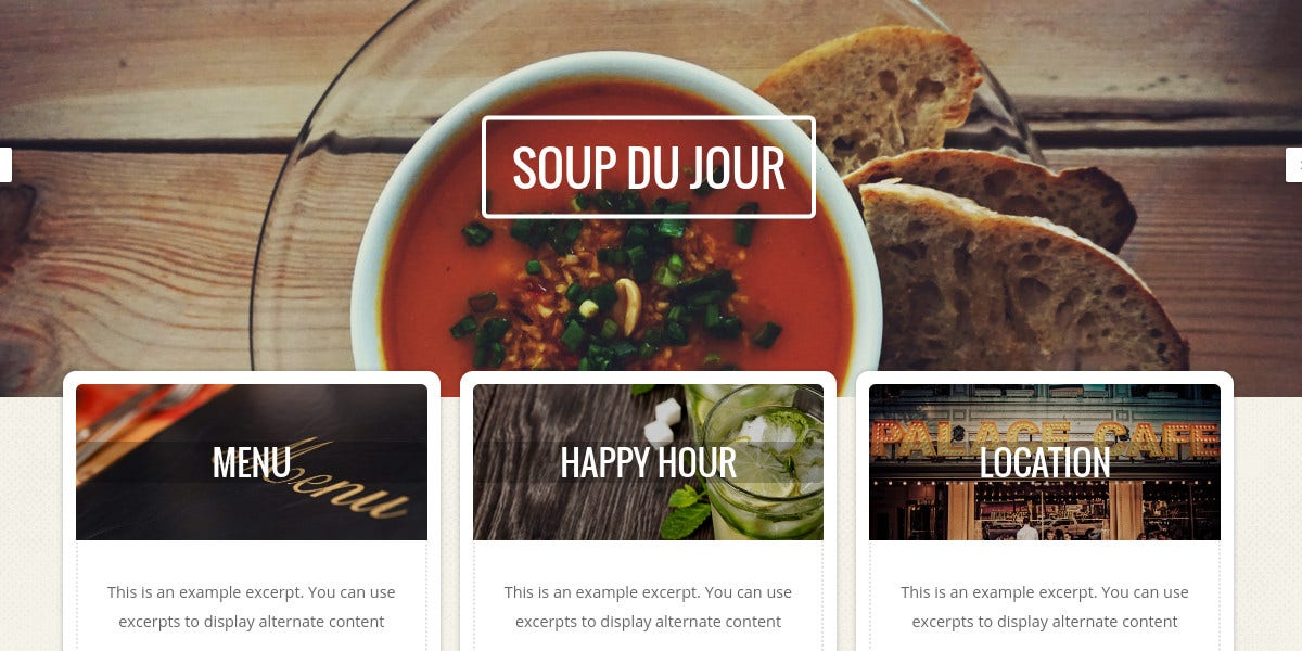 Restaurant, Cafes & Chefs WordPress Website Theme