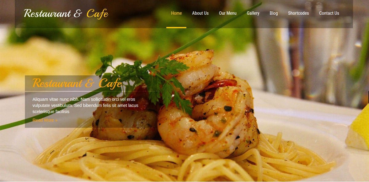 Cafe & Restaurant WordPress Website Theme