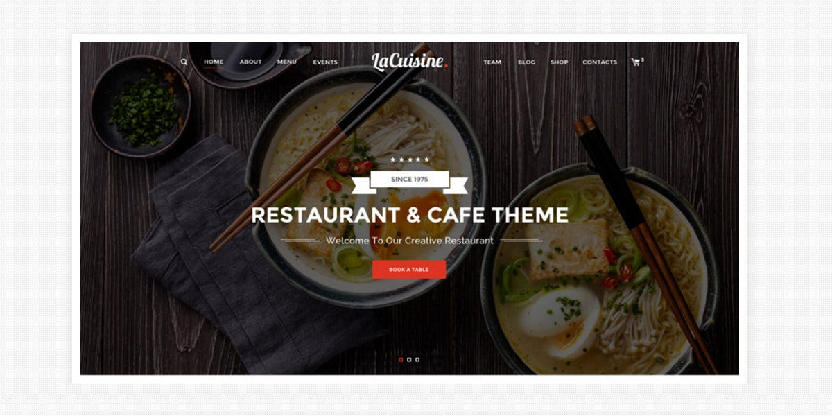 Bakery & Restaurant WordPress Website Theme $59