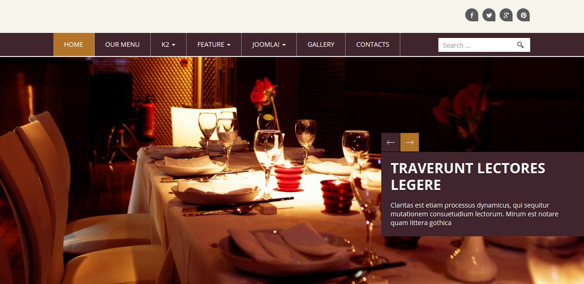 Best Restaurant Joomla Website Template $30