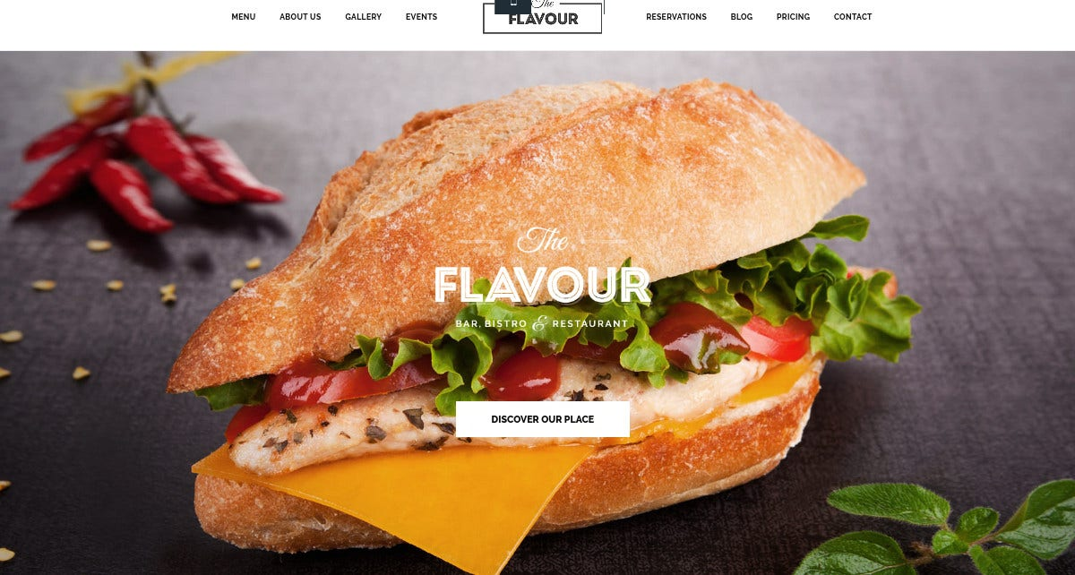 Tasty Flavour Restaurant WordPress Website Theme