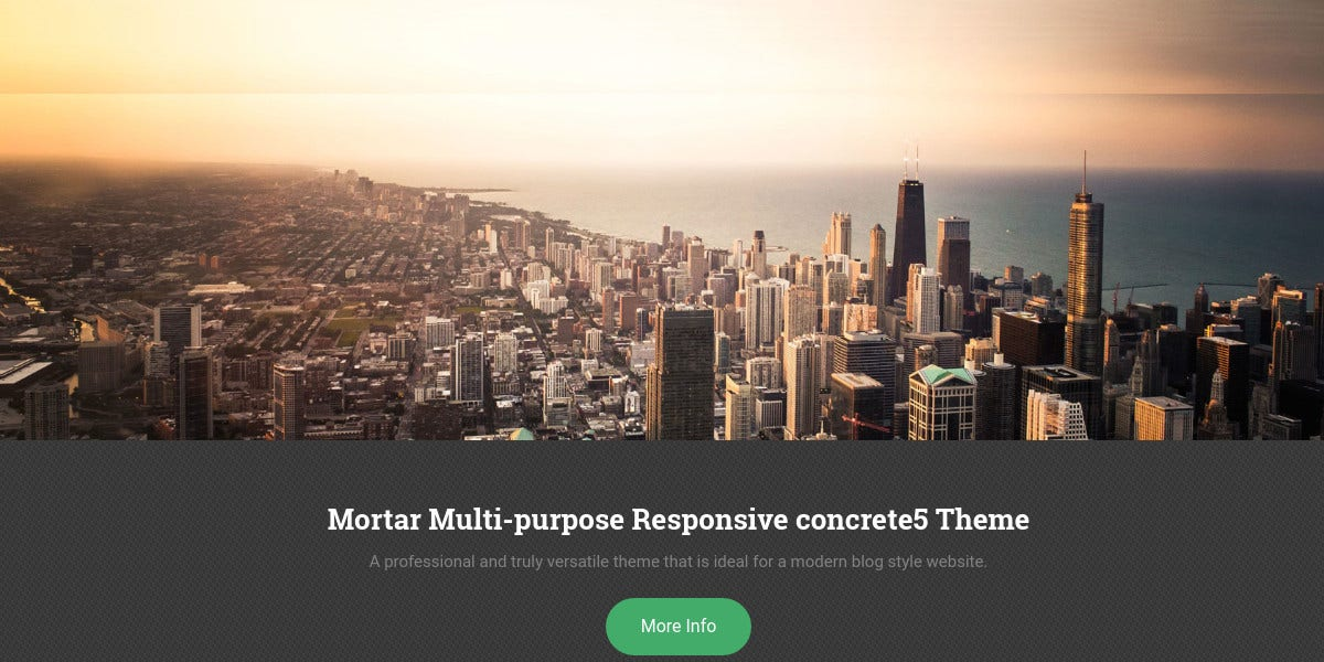 modern blog professional concrete5 theme