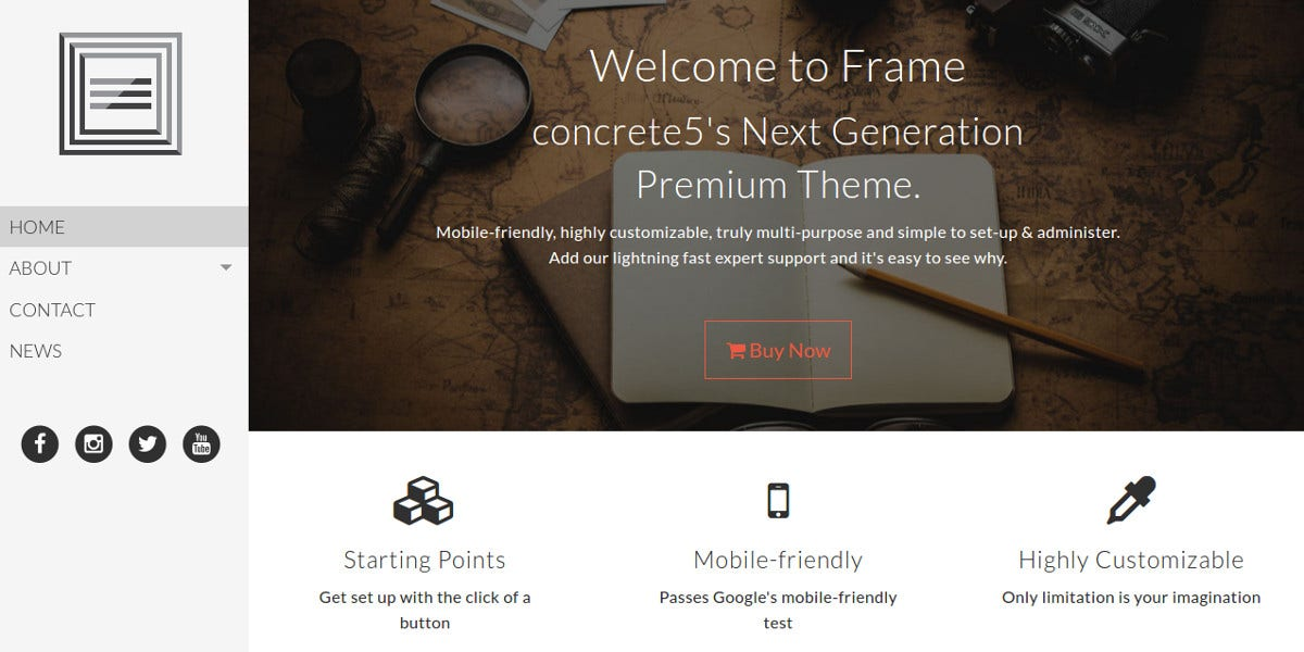 simple elegant professional concrete5 theme