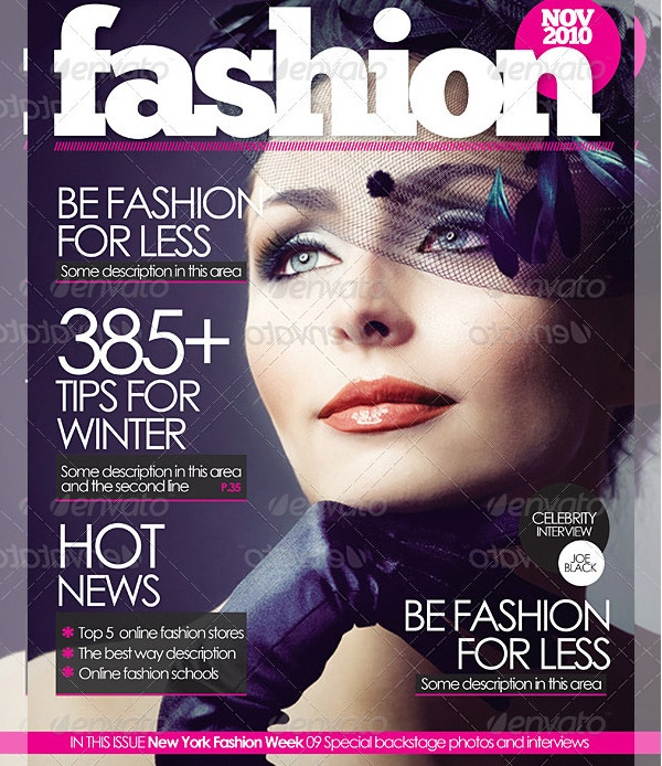Beautiful Girl Magazine Cover Template