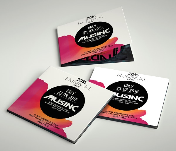 CD Cover Psd Template For Bussiness