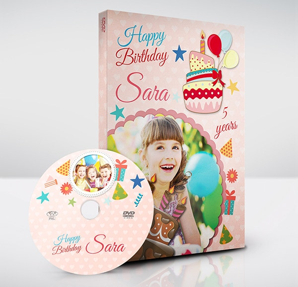 Birthday Party DVD Cover Template