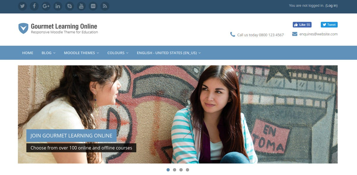 Moodle Theme for Professional University
