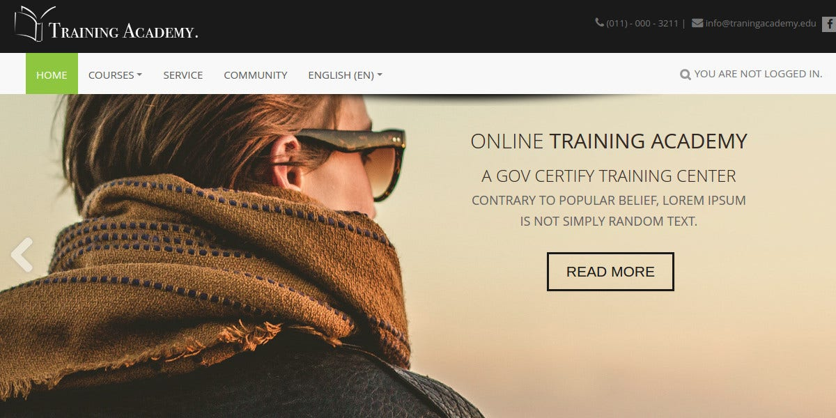 Professional Training Moodle Theme