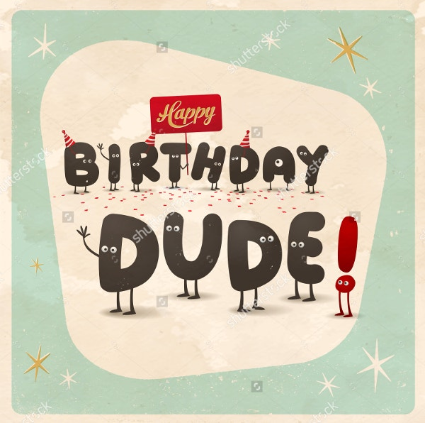 19 Funny Happy Birthday Cards Free PSD Illustrator EPS Format – Cool Happy Birthday Cards