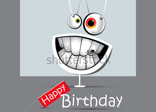 Happy Birthday Funny Card with Smile