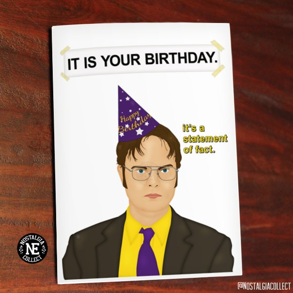 TV Show Themed Happy Birthday Card