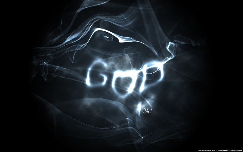 smoke art photography with god name