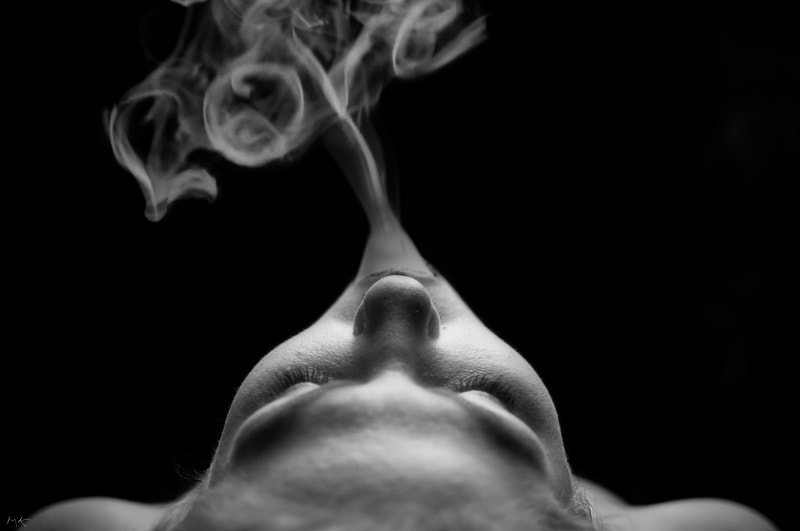 smoke art photography of love